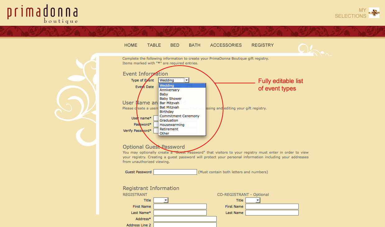 Editable Event Types Click To Zoom